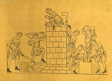 Resultado de imagen para albañil medieval